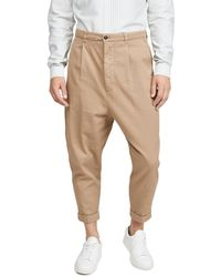 AMI Oversized Carrot Fit Pants - Multicolour