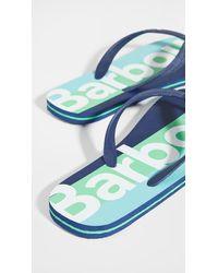 Barbour Stripe Beach Sandals - Blue