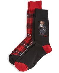 Polo Ralph Lauren Tuxedo Bear Socks - Black