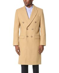 Éditions MR Double Breasted Overcoat - Blue