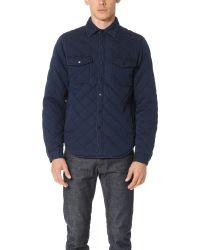 Alex Mill - Quilted Indigo Shirt Jacket - Lyst
