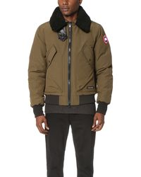 Canada Goose down online price - Canada goose Foxe Bomber in Green for Men | Lyst