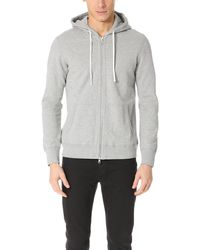 Reigning Champ Mid Weight Terry Zip Hoodie - Grey