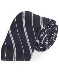 Club Monaco - Slub Stripe Tie - Lyst