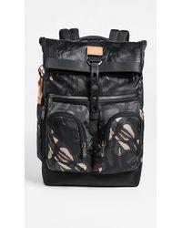 Tumi Alpha Bravo London Roll Top Backpack - Gray
