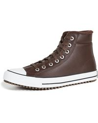 Converse Chuck Taylor All Star Pc Boot High Top Trainers - Brown