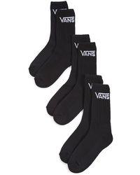 Vans 3 Pack Classic Crew Socks - Black