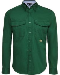 Tommy Hilfiger Hargrove Twill Captain Shirt - Green