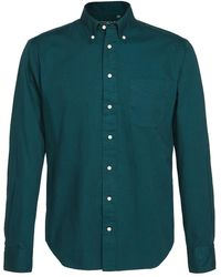Gitman Brothers Vintage Overdyed Oxford Button Down Shirt - Green