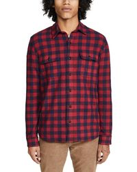 Faherty Brand Legend Jumper Shirt - Red