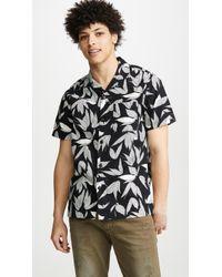 J.Crew Wallace & Barnes Printed Camp-collar Shirt - Black
