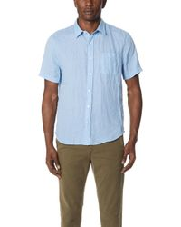 Vince - Washed Short Sleeve Shirt - Lyst