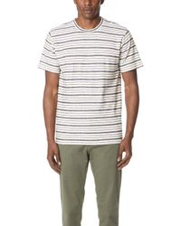 Norse Projects - Niels Textured Stripe Tee - Lyst