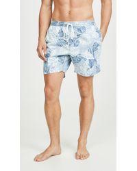 RVCA Dead Flag Floral Swim Shorts - Blue