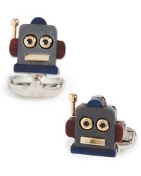 Paul Smith Robot Head Toy Cufflinks - Metallic