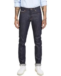 Naked & Famous Super Guy Denim In Dirty Fade Selvedge - Blue
