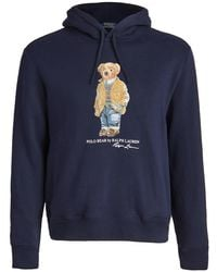 Polo Ralph Lauren Magic Fleece Bear Graphic Hoodie - Blue