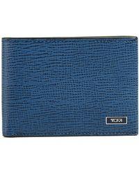Tumi - Men's Textured Leather Billfold Wallet - Lyst