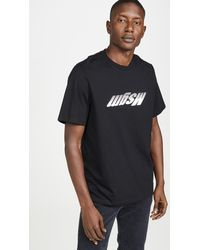 MSGM - Upside Down Fast Logo Short Sleeve Tee Shirt - Lyst