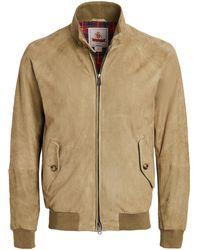 Baracuta G9 Suede Jacket - Natural