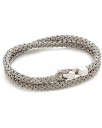 Miansai Sterling Silver Ipsum Wrap Bracelet - Metallic