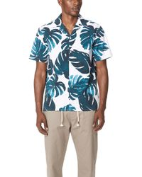 Club Monaco - Tropical Leaf Shirt - Lyst