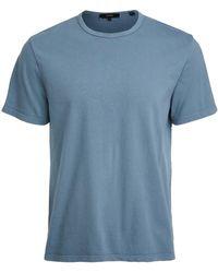Vince Garment Dye Crew Tee - Blue