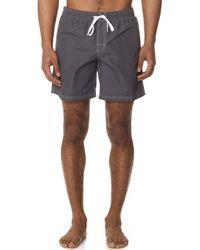 Sundek - Fixed Waist Long Board Shorts - Lyst