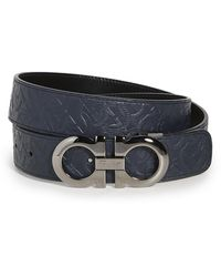 Ferragamo Silver Double Gancio Adjustable Belt - Multicolour