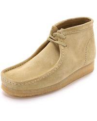 Clarks Wallabee Suede Chukka Boots - Green