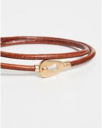 Miansai Centra Leather Wrap Bracelet - Brown