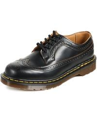 Dr. Martens Made In England Vintage 3989 Brogue Lace Up - Black