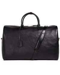 Lotuff Leather No.12 Leather Weekender Bag - Black