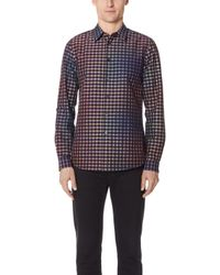 PS by Paul Smith - Long Sleeve Tailored Fit Plaid Shirt - Lyst