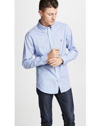 Polo Ralph Lauren - Slim Stretch Poplin Shirt - Lyst