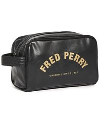 Fred Perry Branded Wash Bag - Black