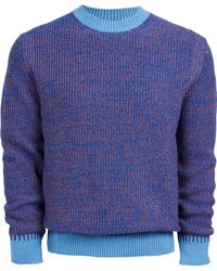 PS by Paul Smith Pullover Crew Neck Sweater - Blue