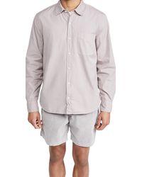 Save Khaki Poplin Standard Shirt - Grey
