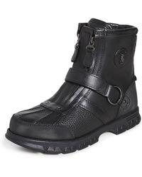 Polo Ralph Lauren Conquest Hi Iii Work Boots - Black