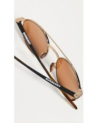 Burberry Round Sunglasses - Brown