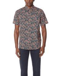 RVCA - Barrow Short Sleeve Shirt - Lyst