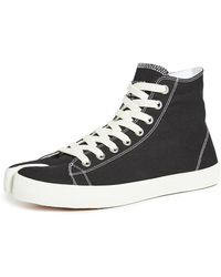 Maison Margiela Tabi High Top Sneakers - Black