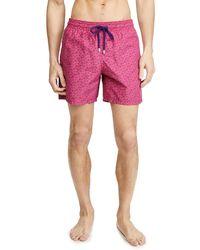 Vilebrequin Micro Ronde Des Tortues Swim Trunks - Pink