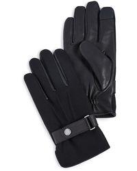 Polo Ralph Lauren Wool Melton Hybrid Gloves - Black