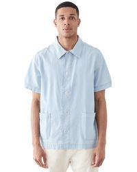 A.P.C. X Rth Santal Short Sleeve Shirt - Blue