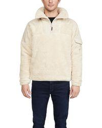 Rag & Bone Logan Sherpa Quarter Zip Pullover - Multicolour