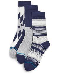 Stance Tacoma Socks 3 Pack - Blue
