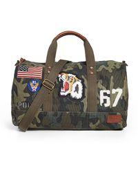 Polo Ralph Lauren Camo Canvas Duffle Bag - Multicolour