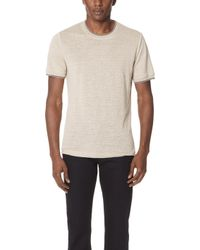 Vince - Ribbed Short Sleeve Tee - Lyst