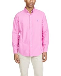 Polo Ralph Lauren Long Sleeve Classic Oxford Shirt - Pink